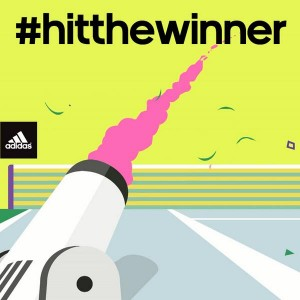 Adidas celebrates Murray's Wimbledon success with #hitthewinner real-time Twitter competition