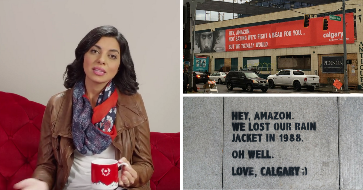 How Calgary and Critical Mass used guerrilla ads in Amazon HQ2 charm offensive | The Drum