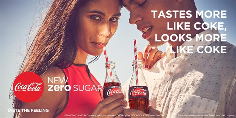 New advertising of Coca Cola.