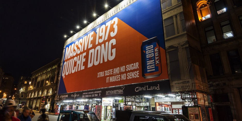 irn bru marketing Once took a bottle of irn-bru to brazil to give to a friend who had heard of it and was curious i actually went to the trouble of going through the 'something to.