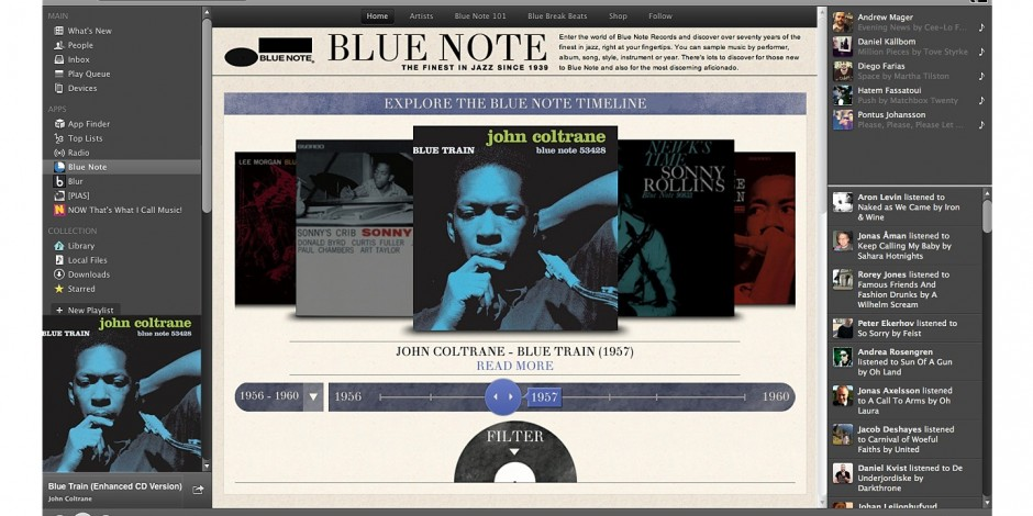 Blue Note Records works with Retrofuzz to launch Spotify app
