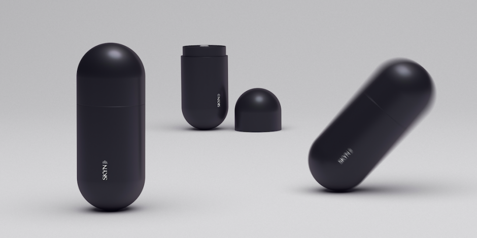 Skyn's erectile dysfunction pill comes in a self-erecting package
