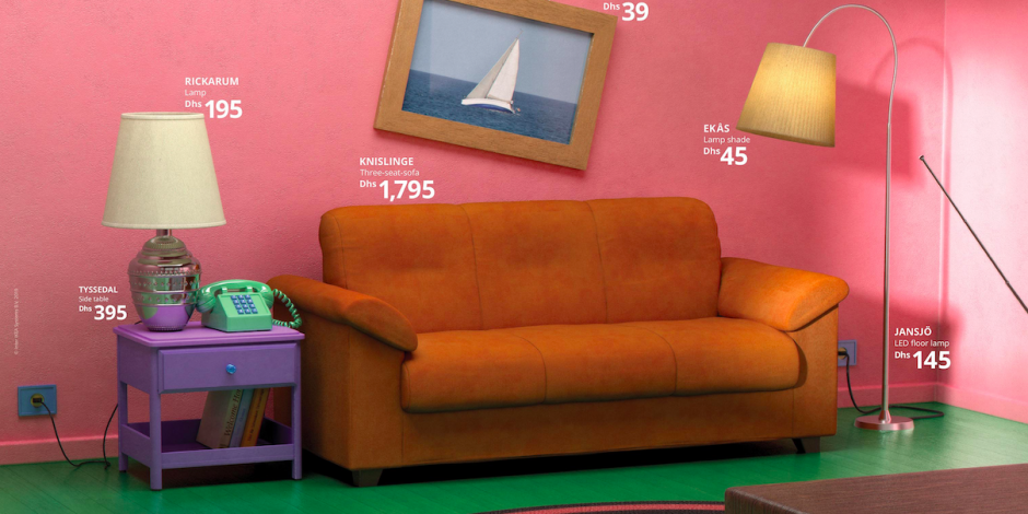 Ads We Like: Ikea displays its furniture in the living rooms ...