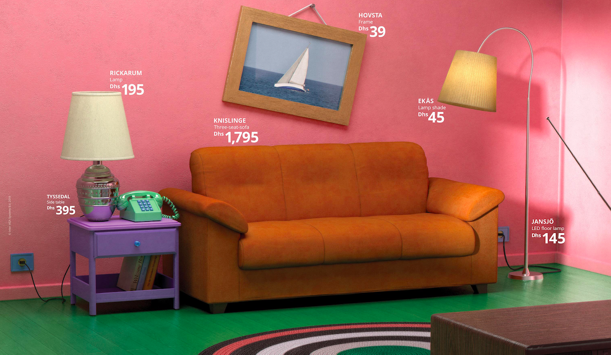 Ads We Like: Ikea displays its furniture in the living rooms of