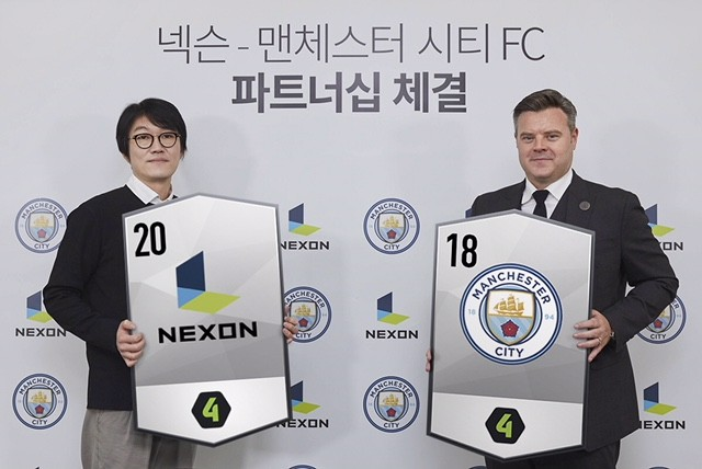 Man City FC names Nexon as an official social football gaming partner in South Korea