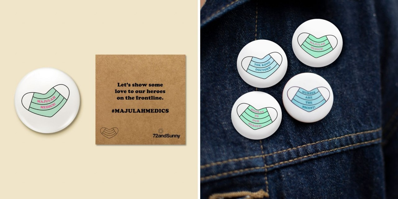 Inspirational badges created for frontline health workers fighting Covid-19