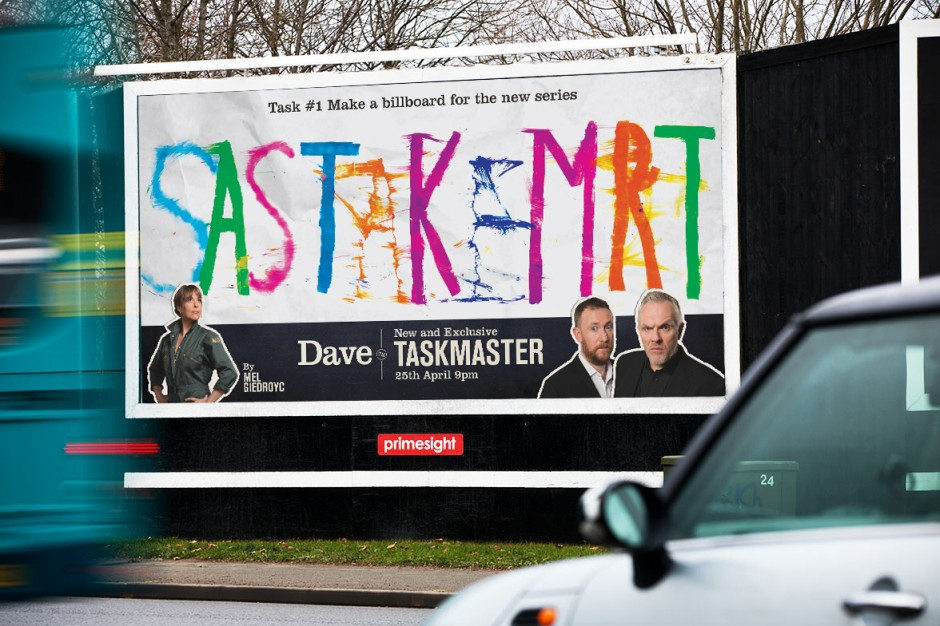 Mel Giedroycu0027s billboard & UKTV hands over advertising to the stars of Taskmaster to launch new ...
